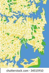 vector map of Sydney.