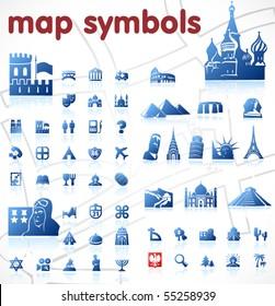vector map symbols
