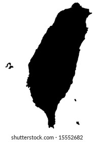 vector map of Taiwan