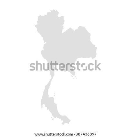 Vector Map Thailand Stock Vector (Royalty Free) 387436897 - Shutterstock