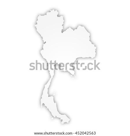 Vector Map Thailand Design Illustration Stock Vector (Royalty Free ...