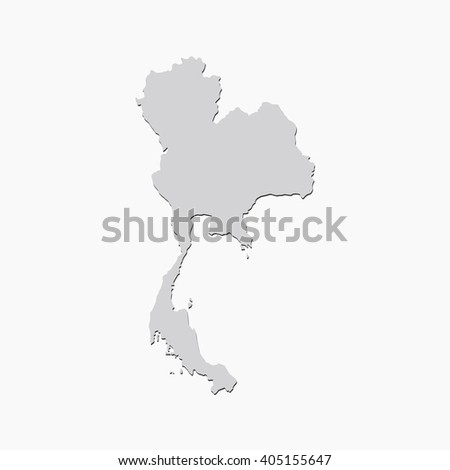 Vector Map Thailand Gray Isolated Vector Stock Vector (Royalty Free ...
