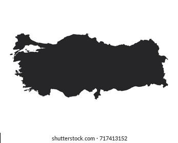 Vector map of Turkey