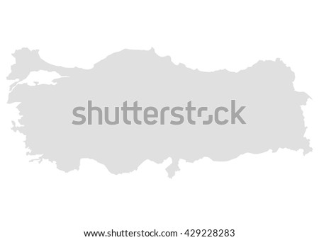 Vector Map Turkey Stock Vector (Royalty Free) 429228283 - Shutterstock
