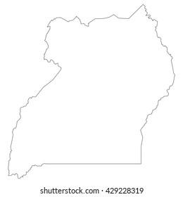 vector map of Uganda