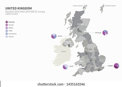 vector map of United kingdom.uk map. england map.