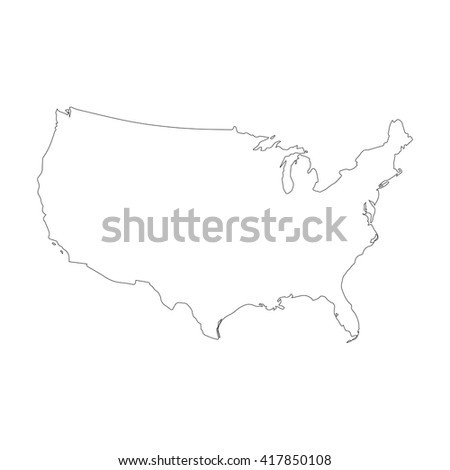 Vector Map United States Outline Map Stock Vector (Royalty Free ...