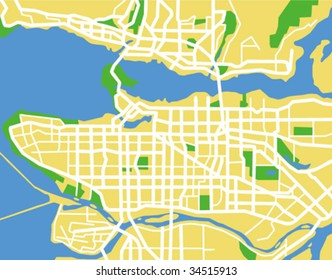vector map of Vancouver.