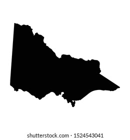 Vector map Victoria. Isolated vector Illustration. Black on White background. EPS 10 Illustration.