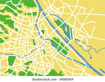 vector map of vienna.