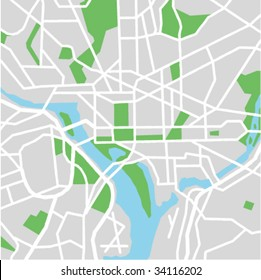 vector map of Washington DC.