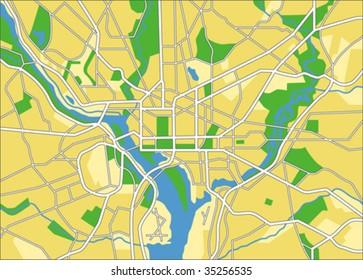 vector map of Washington DC.