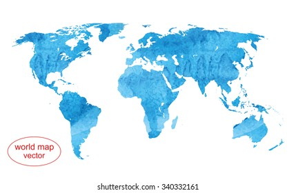 vector map. watercolor