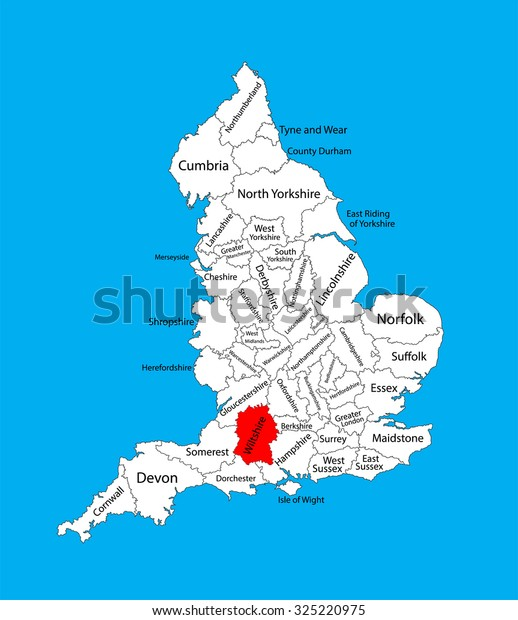 map of wiltshire and hampshire Vector Map Wiltshire South West England Stock Vector Royalty Free map of wiltshire and hampshire