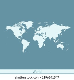 vector map of world