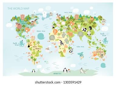 Mapamundi Animado Images Stock Photos Vectors Shutterstock