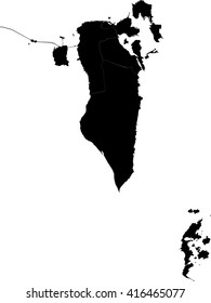 Vector map-bahrain country on white background.