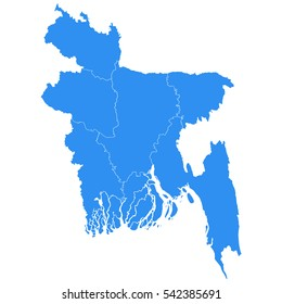 Bangladesh Outline Map Images Stock Photos Vectors Shutterstock