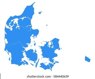 Vector map-Denmark country