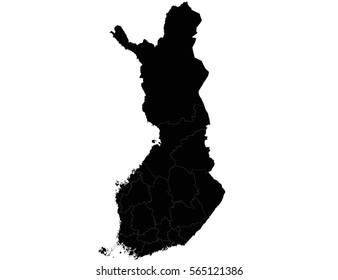 Vector map-finland country on white background
