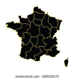 Map Of France Zones.Regions Map France Stock Vector Royalty Free 256199653 Shutterstock