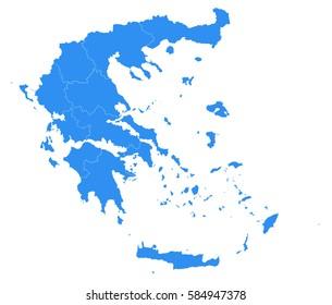 Vector map-Greece country