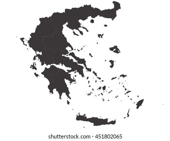 Vector map-greece country on white background.