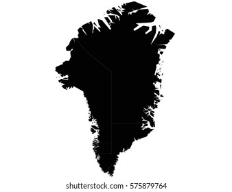 Vector map-greenland country on white background
