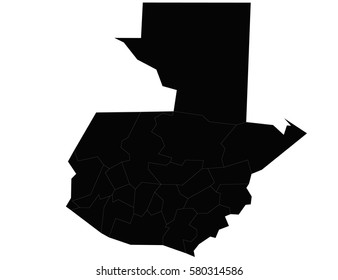 Vector map-guatemala country on white background