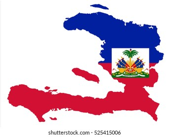 Vector map-haiti country on white background