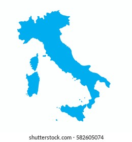 Vector map-italy country on white background