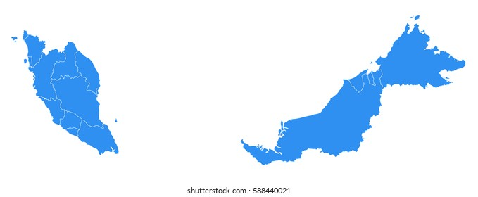 Vector map-Malaysia country