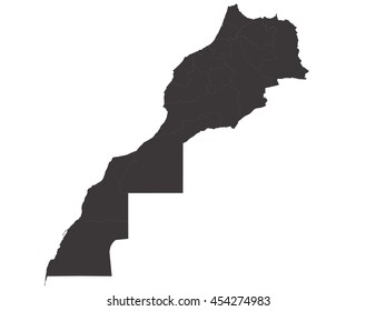 Vector map-morocco country