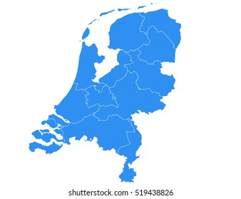 Vector map-netherland country