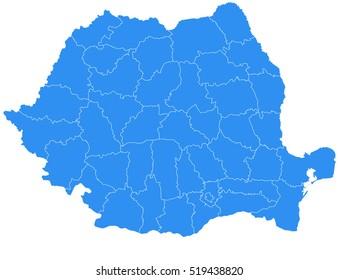 Vector map-romania country