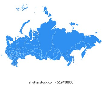 Vector map-russia country