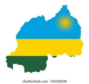 Vector map-rwanda country