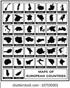 Vector - Maps of European Countries