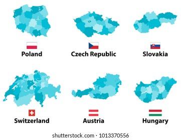 Slovakia Region Map Images Stock Photos Vectors Shutterstock