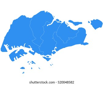 Vector map-singapore country