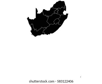 Vector map-south Africa country on white background