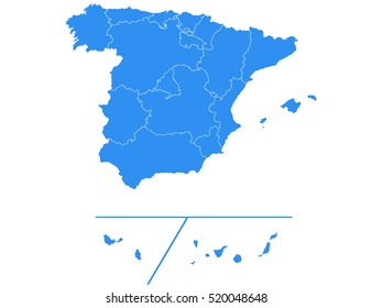Vector map-spain Provinces country