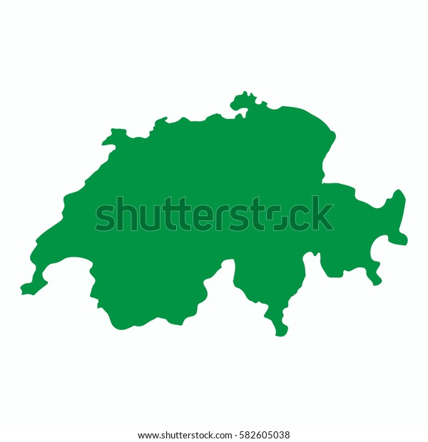 Vector map-switzerland country on white background