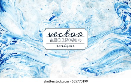 Vector marble imitation blue background