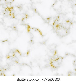 Vector marble seamless pattern with gold background. Marbled pattern with golden texture. Trendy print for design, party, birthday, wedding, invitation, web, banner, card.
