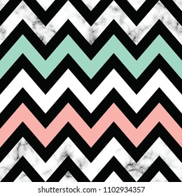 Vector marble texture design with geometric chevron shapes, black and white marbling surface, modern luxurious background, vector illustration