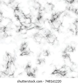 Vector marble texture design seamless pattern, black and white marbling surface, modern luxurious background, vector illustration