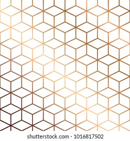 Vector marble texture, pattern design with golden cubes, geometric, modern luxurious background