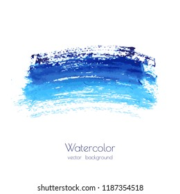 Vector marina, navy blue, indigo watercolor texture background, dry brush stains, strokes, spots isolated on white. Abstract marble frame, place for text or logo. Acrylic hand painted pours, fluid art