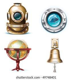 Vector marine travel icons. Part 1